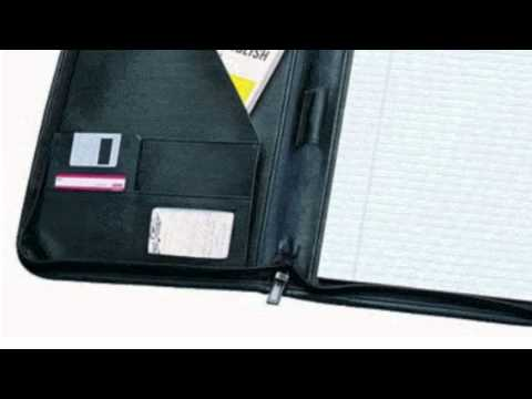 Deluxe Zippered Black Koskin Leather Portfolio By Bags For Lesstm