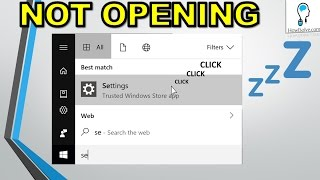 Windows 10 Settings not Opening Working Fixed