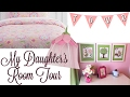 MY 7 YEAR OLD DAUGHTER'S BEDROOM TOUR | GIRLY PINK ROOM