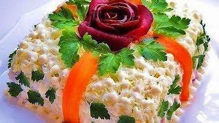 САЛАТ ОЛИВЬЕ - ПРИНЦЕССА НА ГОРОШИНЕ. Салат оливье — король салатов. Вкусные салаты.
