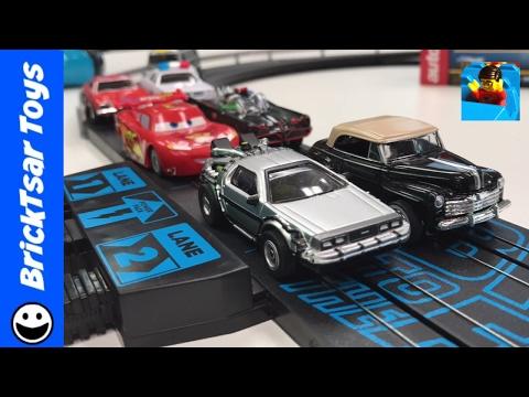 Back to the Future Slot Car Autoworld Review and Compare | Delorean Time Machine