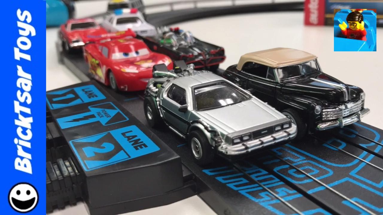 Back To The Future Slot Car Autoworld Review And Compare Delorean Time Machine