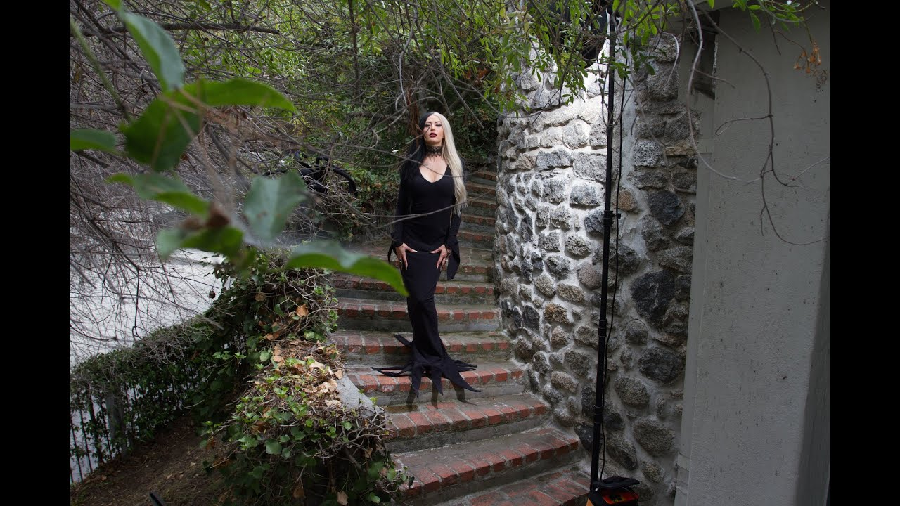 Morticia Addams Gown  sc 1 st  YouTube & Morticia Addams Gown - YouTube