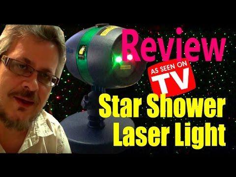 Star Shower Motion Laser Light Review Youtube