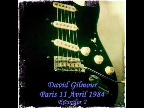 David Gilmour The Zenith, Paris, France 1984 04 11