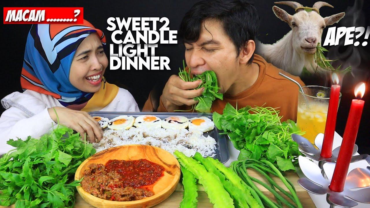 """""""sweet2"""" Candle Light Dinner NASI PANAS TELUR KICAP + ULAMAN KAMPUNG (Mukbang Malaysia)"""