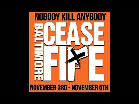 Baltimore Activists Hold Second CeaseFire Weekend