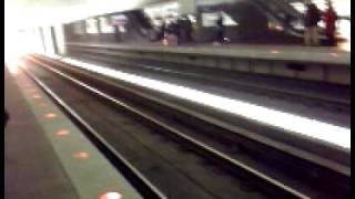 Washington D.C. Metro Train Arriving at Farragut West