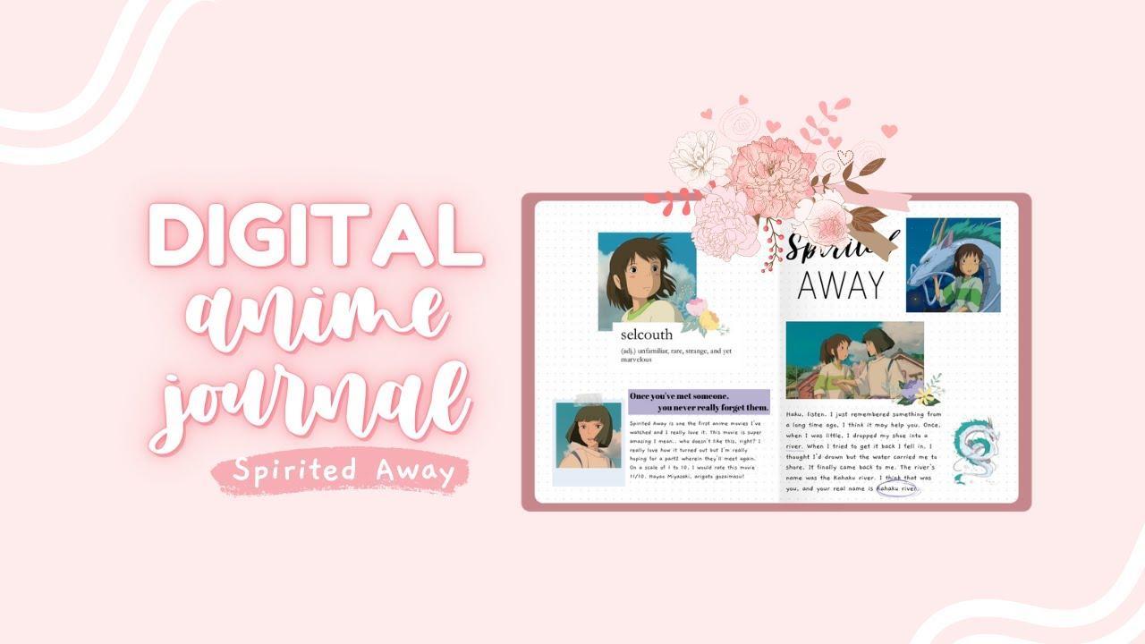 Digital Anime Journal With Me Spirited Away Youtube