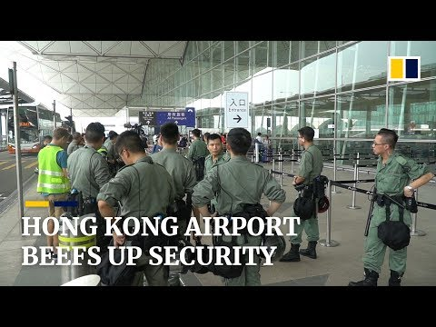 Increased security at Hong Kong International Airport with protests expected