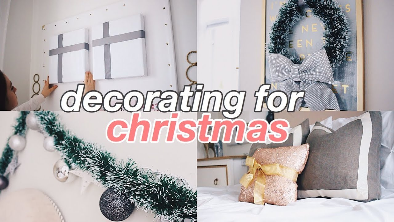 Decorating My Room For Christmas