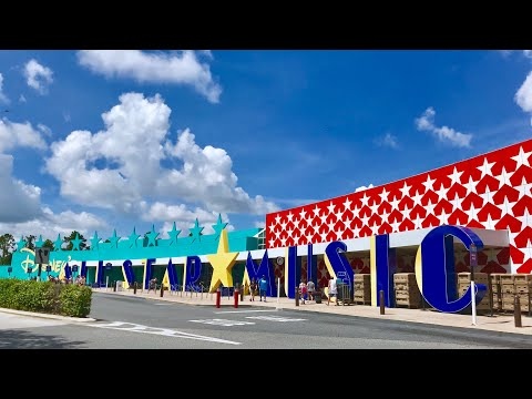 Disney's All Star Music Resort Quick Walk Around 2018  Room, Food Court, Gift Shop