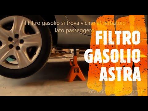 Opel Astra J 1.7 110cv - Sostituzione filtro gasolio con spurgo