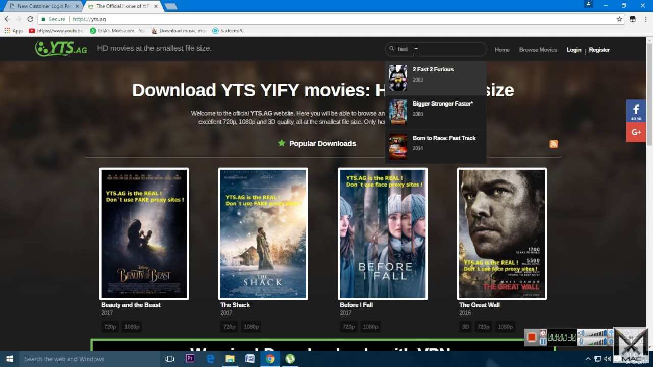yts movie torrents