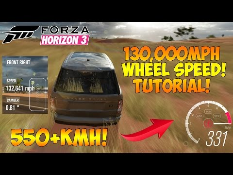 Forza Horizon 3 - HOW TO DRIVE OVER 900KMH! 150,000MPH WHEEL SPEED GLITCH! thumbnail