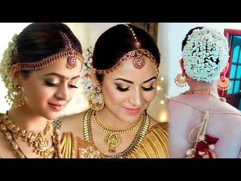 Actress Bhavana inspired South Indian Bridal Look  || Affordable/Drugstore