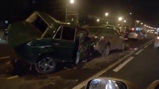 крупное дтп на Каширском шоссе 06.12.2015(, 2015-12-06T20:25:27.000Z)