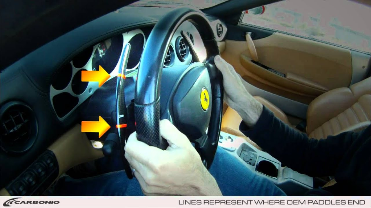 Carbonio Carbon Fiber Ferrari Challenge Shift Paddles Youtube