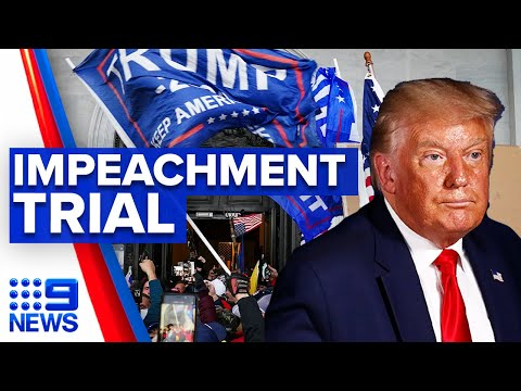 Date set for Trump impeachment trial | 9 News Australia thumbnail
