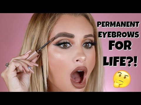 TESTING A TATTOO EYEBROW PRODUCT | IS IT REALLY PERMANENT?