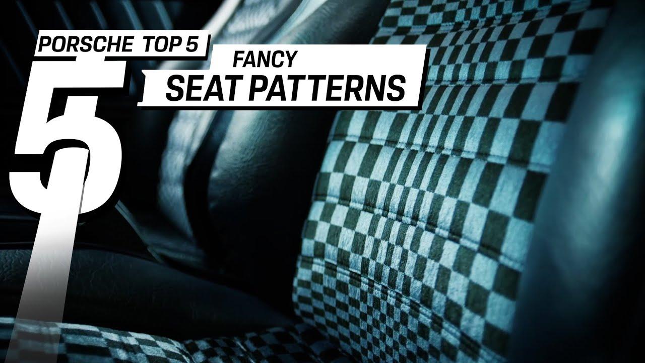 The most famous Porsche seat designs