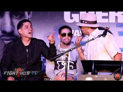Ruben Guerrero almost fights Angel Garcia on stage at Garcia vs. Guerrero press conference