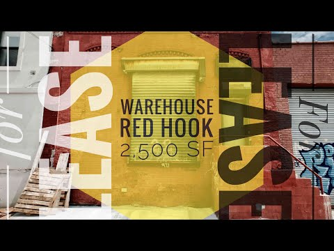 Video Tour of Red Hook Warehouse for Lease with Loading Dock! Brick Walls, High Ceilings Brooklyn NY