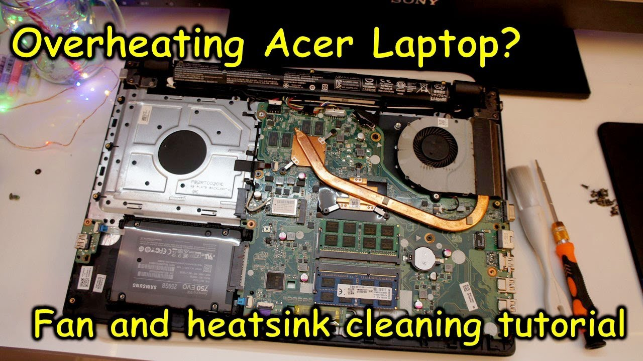 How to fix overheating Acer laptop, clean the heat sink and fan (Aspire V3  574G)