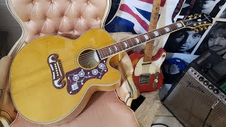 Epiphone EJ200SCE/VN unboxing