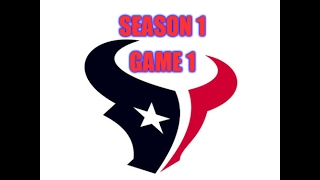 Texans First Win in Franchise History - Madden 2003 Texans Franchise - Week 1 vs Dallas Cowboys