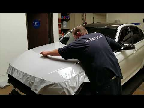 BMW M3 Hood Wrap in Nardo Grey
