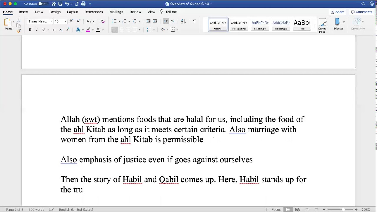 Sh. Zubair || Quranic Overview (Juz 6)