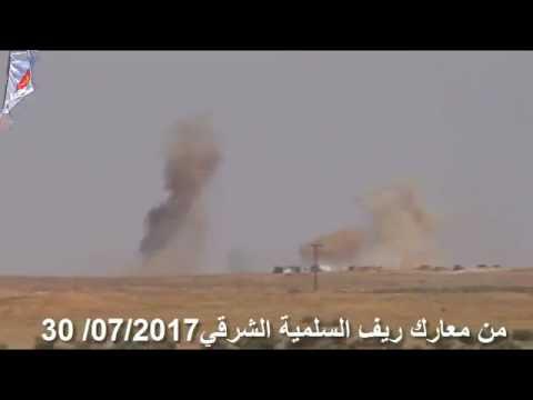 LIWA AL QUDS SHELLING ISIS POSITIONS IN EASTERN HAMA