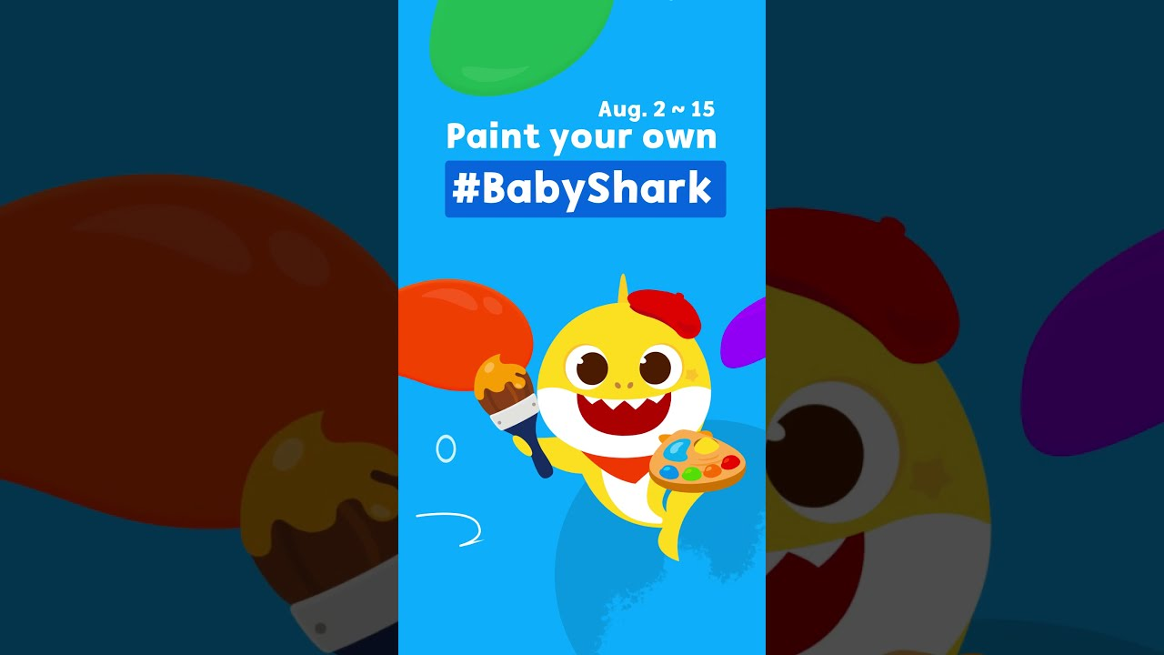 [Event] Paint your own #BabyShark & get gifts! | Pinkfong Kids App #shorts
