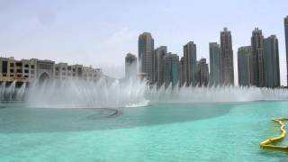 Dubai Water Fountains Day Show