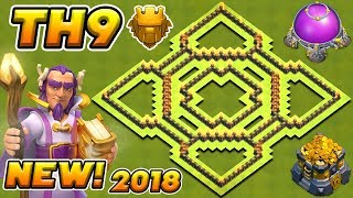 Town Hall 9 TROPHY / FARMING Base 2018! | BEST TH9 HYBRID BASE 2018! | CLASH OF CLANS