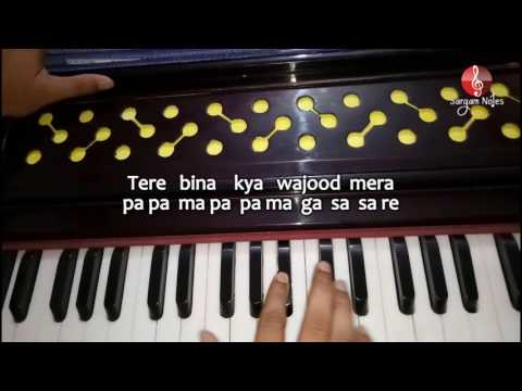 Tum Hi Ho from Aashiqui 2 on Harmonium sargam | Raag Bhairavi Song | Piano Song Notes
