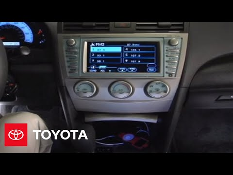 2007 2009 camry how to auxiliary input navigation. Black Bedroom Furniture Sets. Home Design Ideas