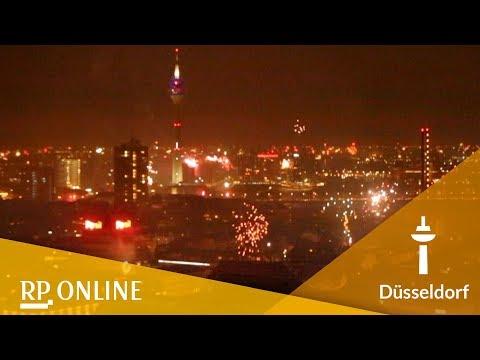 Silvester 2017: So war das Feuerwerk in Düsseldorf