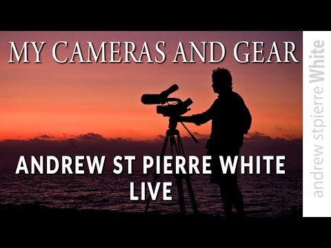 What cameras do I use? Andrew st Pierre White LIVE