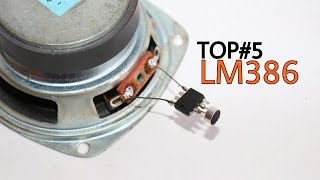 TOP 5 Electronics Projects using LM386  Amazing projects