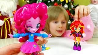 ДЕВОЧКИ ИЗ ЭКВЕСТРИИ Игрушки от Настюшик  Пинки Пай и Сансет Шимер My Little Pony Equestria Girls