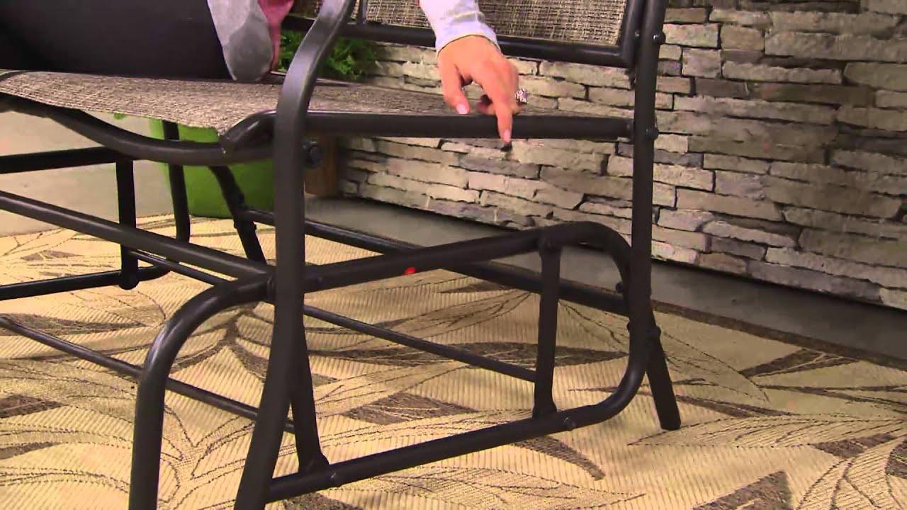 Bliss Hammocks 2 Person Loveseat Glider Chair with Jennifer Coffey
