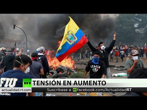 """Presidente de Ecuador declara """"toque de queda"""" y """"militarización"""" en Quito"""