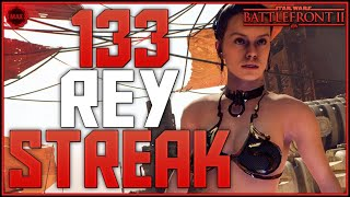 Battlefront-2 133 Max Level Rey Skywalker Killstreak/Gameplay
