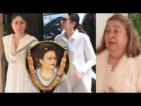 Kapoor Family At Krishna Raj Kapoor Funeral | Kareena, Karisma, Randhir, Reema