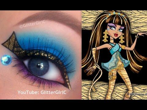 Worksheet. Monster Highs Cleo de Nile Makeup Tutorial  YouTube