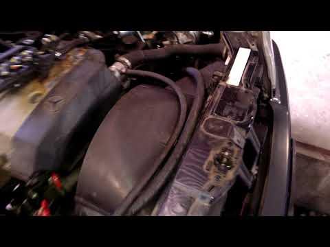 Замена вискомуфты на электровентилятор Mercedes W202 C180