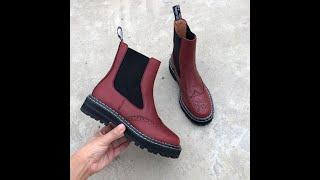 Женские ботинки ботильоны из натуральной кожи в европейском и американском стиле ботинки челси