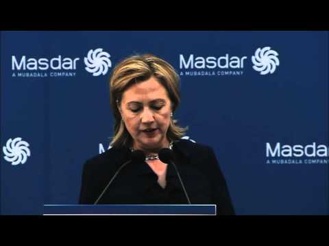 Secretary Clinton's Remarks at Masdar - short